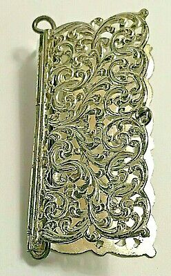 Antique Pierced Scrolls Unger Bros. Sterling Silver Needle Holder Book