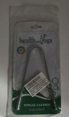 HealthAndYoga(TM) Surgical Grade Stainless Steel Tongue Cleaner Scraper  New