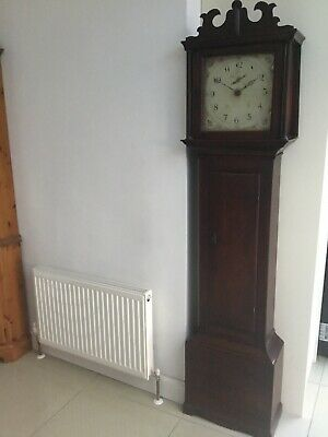 An Antique Victorian Longcase Grandfather Clock.