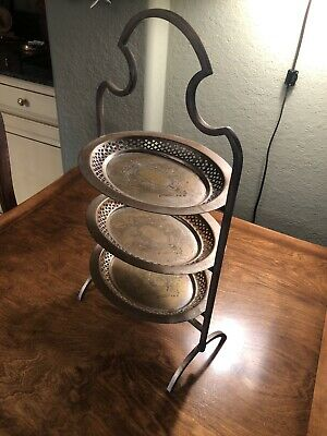 3 Tray Silver Plated Stand