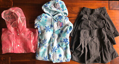 girls pleated school skirts Age 5-6 Frozen All in One &  Raincoat