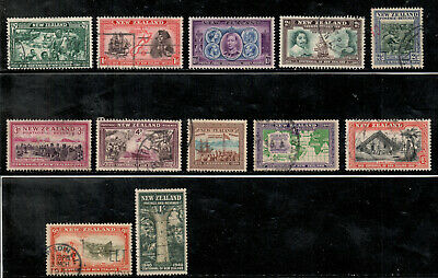 New Zealand 12 Issues from 1940 Set (Scott 229-237;239-241)