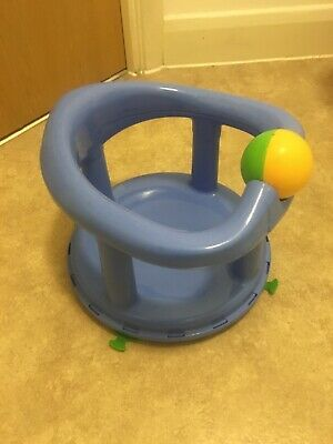 Safety First baby Bath Seat Blue Swivel And Suction cups