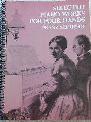 Schubert Selected Piano Works Four Hands Unmarked