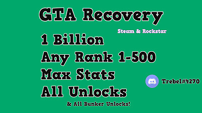 Gta 5 Recovery *PC ONLY* Read Description :)