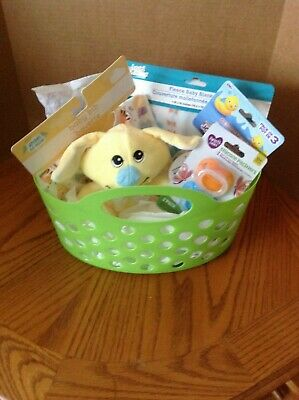 Welcome New Baby - Baby Shower Gift Basket - Neutral Colors