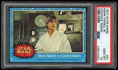 1977 Topps Star Wars #61 Mark Hamill in Control Room PSA 10 GEM MINT (series 1)