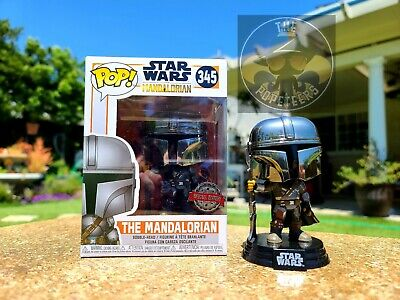 Funko POP! Star Wars 345 The Mandalorian Chrome Mando AMAZON SPECIAL EDITION