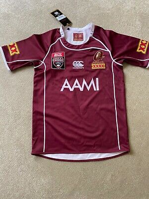 """Nwt Mens Queensland  Maroon  Replica Home Jersey Rugby Top Size M Chest 44"""""""
