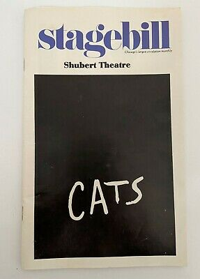 Vintage Shubert Theatre Stagebill Chicago Production CATS the Musical 1985