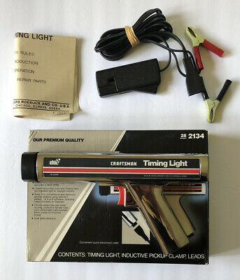 Vintage Sears Craftsman 161.2134 Inductive Timing Light with Box & Directions