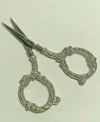 Antique Fancy Scrolls Unger Bros. Sterling Silver Embroidery Scissors