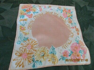 """Vintage Hanky """"Daisy, Daisy, Give Me Your Answer True""""."""