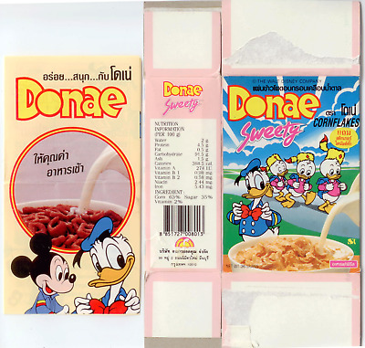Collector Kellogg's Corn Flakes Donald Duck CEREAL BOX from Thailand 1994