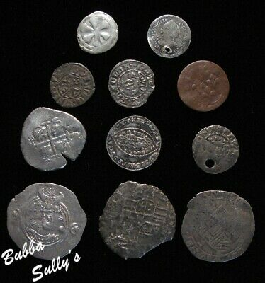 Group of 11 Medieval Coins <> All Circulated