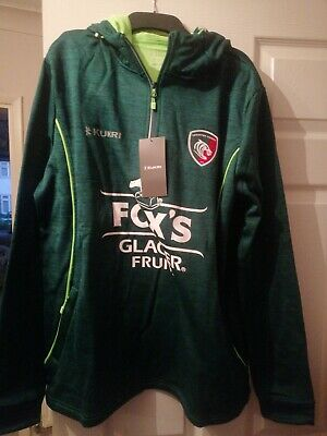 XL Leicester Tigers Rugby Hoodie Bnwt