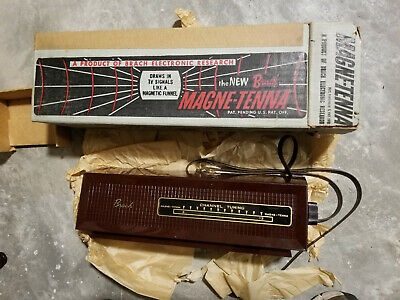 Rare Vintage Brach Magne-Tenna Television TV Channel Tuning Antenna / Org Box