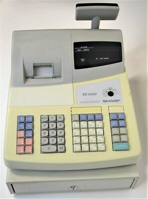 Sharp XE-A202 High Speed Electronic Cash Register Used TESTED Works GREAT NO KEY
