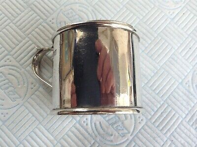 A Large Antique Sterling Silver Mustard Pot by London Mkr Robert Stebbings 1905