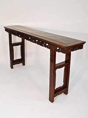 SUPERB ANTIQUE CHINESE CARVED ROSEWOOD ALTAR CONSOLE SERVING TABLE QING c.1880