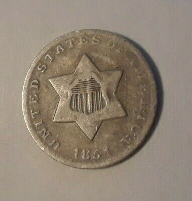 1851 Three-Cent Silver Piece 3 cent