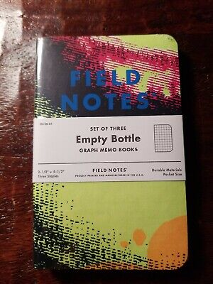 "FIELD NOTES ""Empty Bottle"" Sealed 3 Pack! Limited Edition of 2400"
