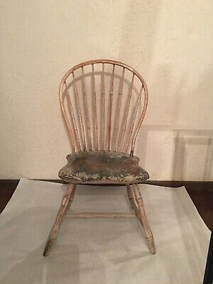 Original Antique 1700's E.B. Tracy Windsor Chair-Must see!