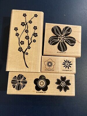 Stampin Up EASTERN BLOOMS Wood Mount Rubber Stamps **RETIRED**