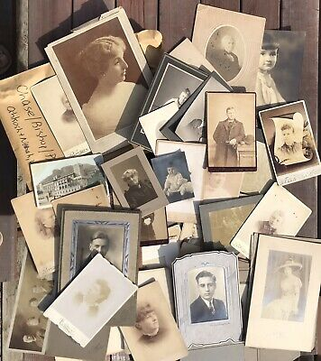 Lot #1 Antique Photos Early 1900s Chase Bishop Playman Wisc Family Portraits