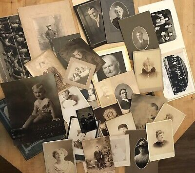 Lot #3 Antique Photos 1900s Chase Otto Bishop Playman Wisconsin Family Portraits