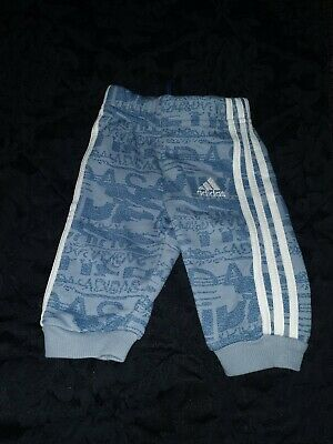 Baby Boy Adidas Tracksuit Bottoms Age 0-3 Months