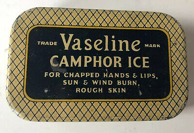 Vintage Vaseline Camphor Ice Advertising Tin
