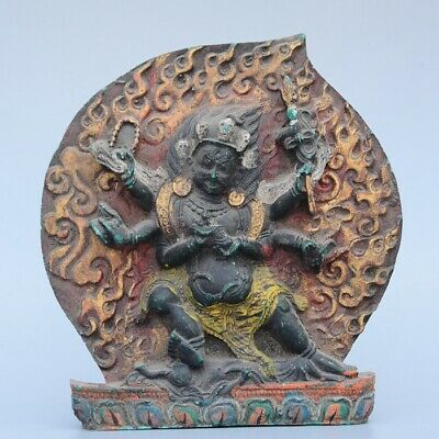 Collectable China Old Resin Hand-Carved Happy Buddha Moral Exorcism Decor Statue