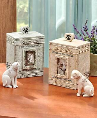 Faithful Angel Cat Or Dog Pet Memorial Figurine Or Photo Picture Sentiment Urn