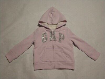 NWT Gap Kids Girls Purple Cozy Logo Sherpa Zip Hoodie Sweatshirt M 8