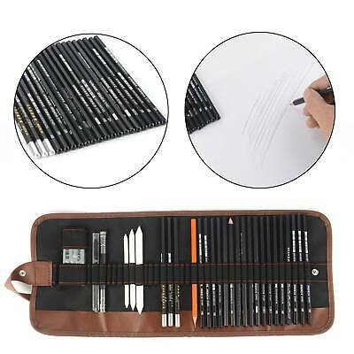 30pc Professional Sketching Drawing Set Art Pencil Kit Artists Graphite Charcoal