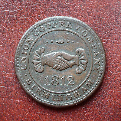 Union Copper Co., Birmingham 1812 copper penny token