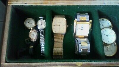 Joblot watches spaires or repairs variety of mens and ladies with box