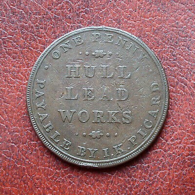 I.K. Picard, Hull 1812 copper penny token