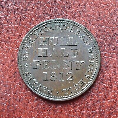 I.K. Picard, Hull 1812 copper halfpenny token