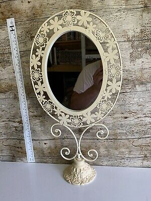 Vintage  Antique Cream Ivory Ornate French Style Shabby Chic Mirror