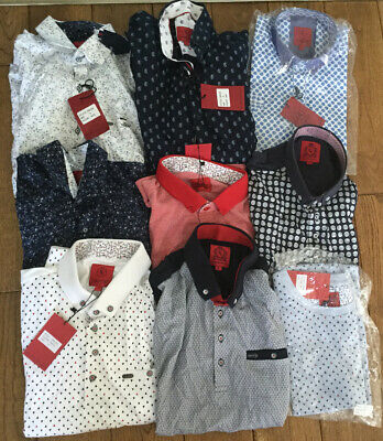 Job Lot of Mens Swade London Clothing 9 Polos & Shirts Size S. New With Tags