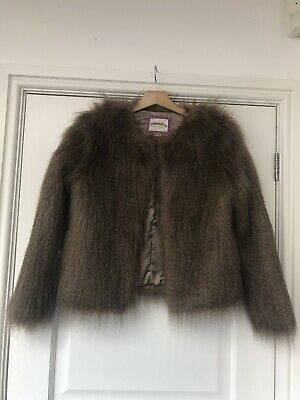 Faux Fur johnnie boden Girls Jacket 13/14yrs