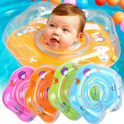 Baby Swim Ring Neck Collar Floating For Toddlers PVC Inflatable Dual Handle