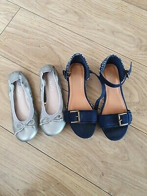 Two Pairs Of Little Girls Next Shoes/Sandals Size Uk2