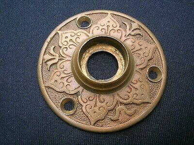 Rare Vintage Antique Ornate Victorian Bronze Door Knob Rosette Escutcheon