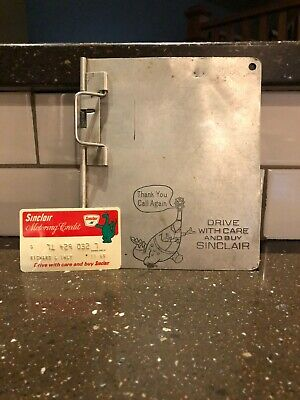 Sinclair Oil Company Credit Card Holder And Credit Card