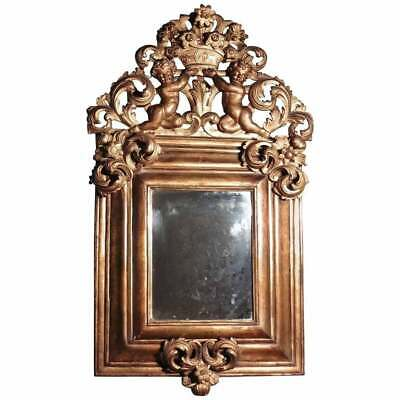 A Superb Large 18th Century Carved Gilt Mirror