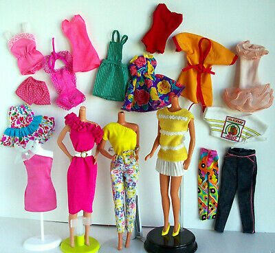 Favorite Fashions 80s Barbie Doll Pretty Fun Finds Clothes Belt Yellow Dress Lot