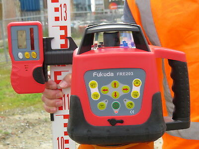 FRE203 Automatic Rotary Laser Level with Tripod and Staff - P